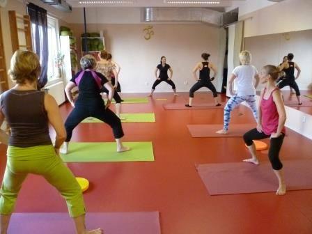cvičení v sále 1