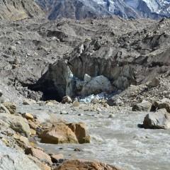 Kraví tlama - Go mukha, pramen Gangy