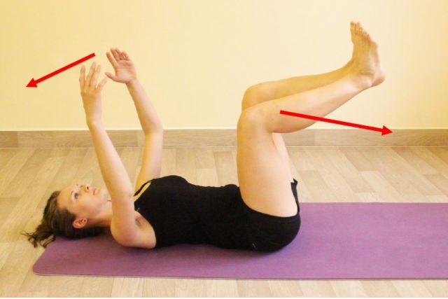 Pokročilejší varianta s pohybem horních a dolních končetin