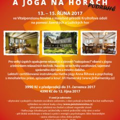 Třídenní workshop TAJEMSTVÍ RELAXACE A JÓGA NA HORÁCH