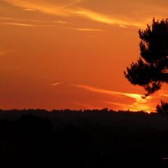 letní slunovrat - západ Slunce