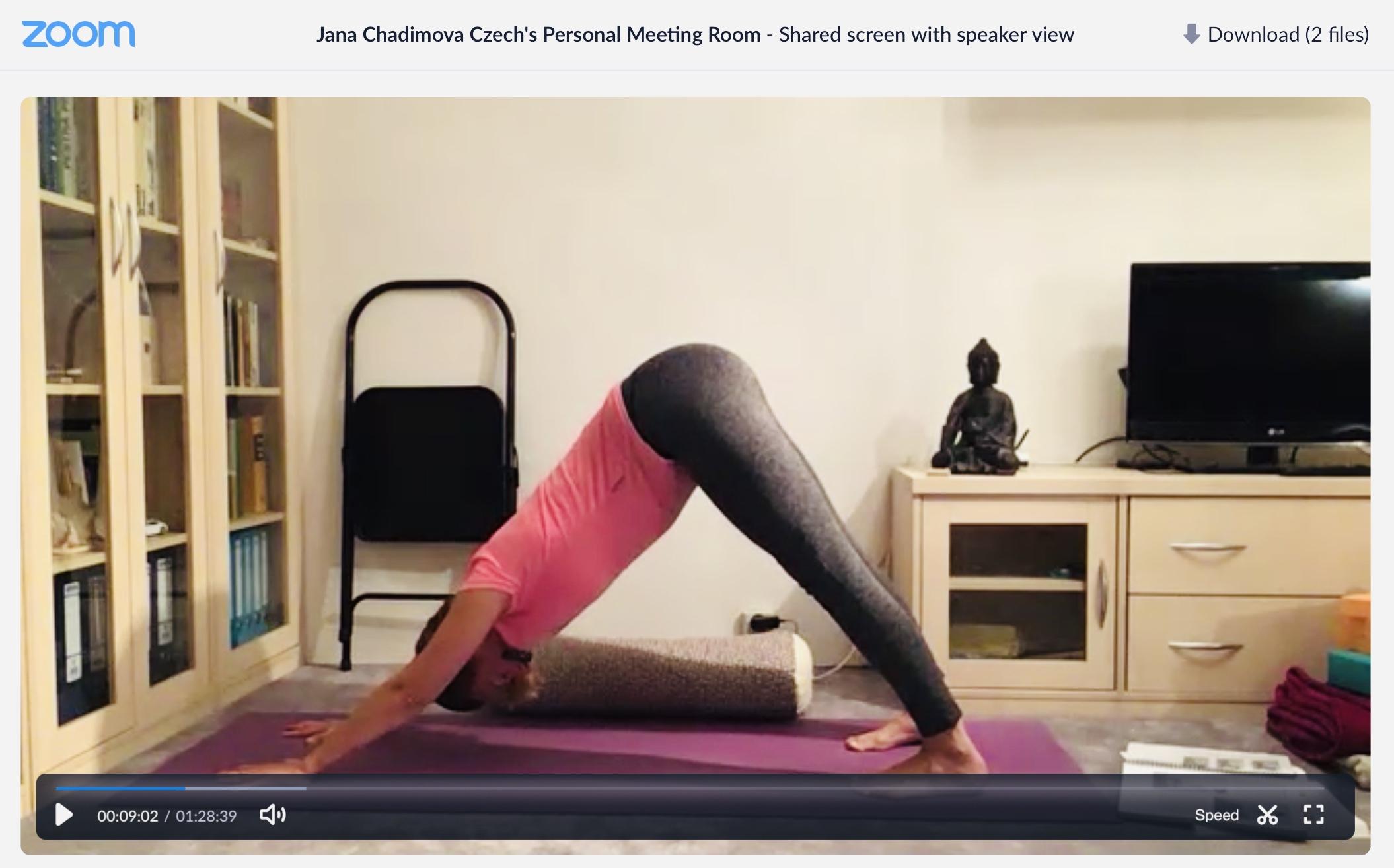 Iyengar jóga Jana Chadimová